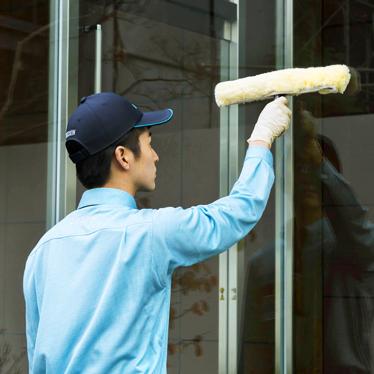 事業所用 ガラスクリーニング