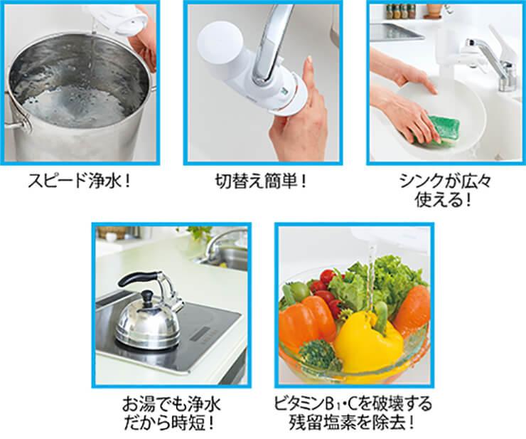 家事や料理に便利な浄水器