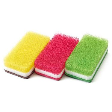 台所用スポンジ3色セット 抗菌タイプ