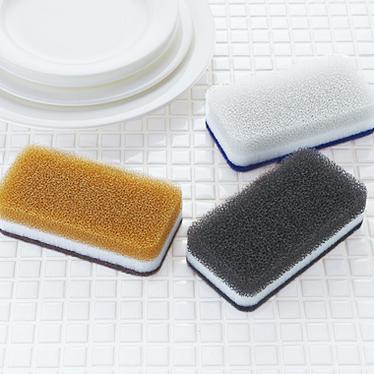 台所用スポンジ3色セット モノトーン抗菌タイプ