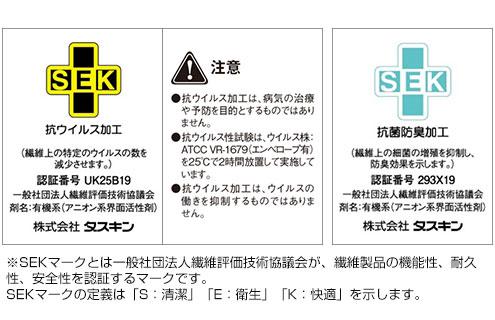 ダスキンの家庭用レンタルモップは「抗ウイルス加工」と「抗菌防臭加工」のSEKマークを取得